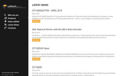 Screenshot of Home Page caltechagencies.co.za - Caltech Agencies | Filling & Packaging Machinery Representatives - captured July 15, 2018