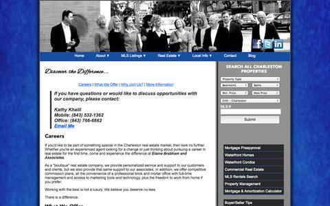 Screenshot of Jobs Page findyourcharleston.com - ElaineBrabhamAndAssociates.com | Careers | Brought to you by Elaine Brabham and Associates - captured Oct. 2, 2014