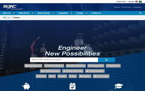 Screenshot of Jobs Page srcinc.com - Careers | SRC, Inc. - captured Sept. 13, 2019