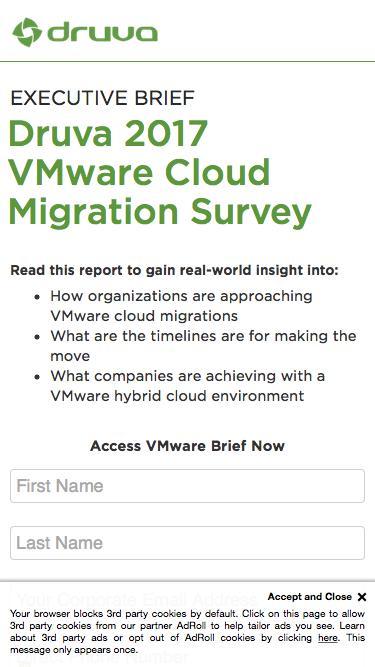 Druva 2017 VMware Cloud Migration Survey