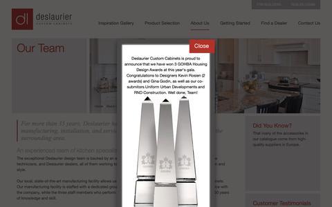 Screenshot of Team Page deslaurier.ca - Our Team   Kitchen Designers, Manufacturers   Deslaurier Custom Cabinets - captured Nov. 13, 2018