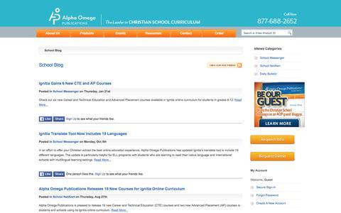 Screenshot of Blog aopschools.com - School Blog - captured March 31, 2016