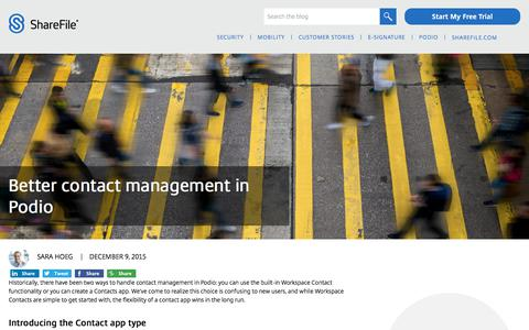 Screenshot of Team Page sharefile.com - Better contact management in Podio - ShareFile blog - captured Feb. 25, 2020