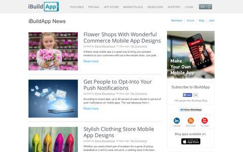 Screenshot of Press Page ibuildapp.com - Flower Shops With Wonderful Commerce Mobile App Designs - captured Sept. 16, 2014