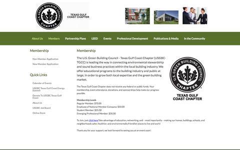 Screenshot of Signup Page usgbctexasgulfcoast.org - USGBC Texas Gulf Coast - Membership - captured Feb. 3, 2016