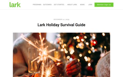 Screenshot of Blog lark.com - Lark - 24/7 Health Guidance and Support - captured Dec. 12, 2019