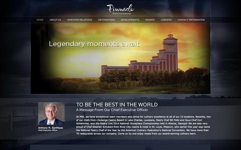 Screenshot of Home Page pnkinc.com - Pinnacle Entertainment, Inc. » Pinnacle Entertainment, Inc. - captured Sept. 19, 2014