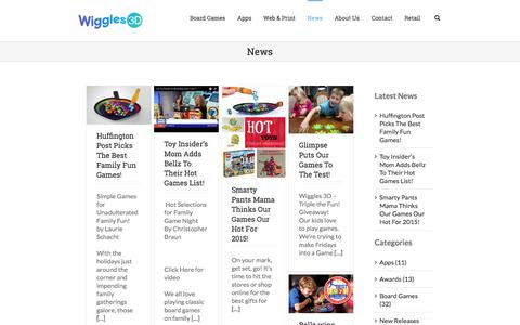 Screenshot of Press Page wiggles3d.com - Wiggles 3D - captured March 2, 2017