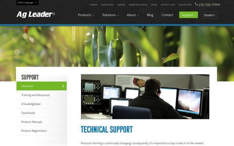 Screenshot of Support Page agleader.com - Support | Ag Leader Technology - captured June 26, 2017