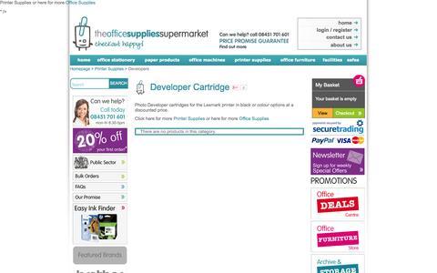 Screenshot of Developers Page theofficesuppliessupermarket.com - developer   developers   cartridges   photo developer   printing supplies   stationery - The Office Supplies Supermarket - captured Sept. 19, 2014