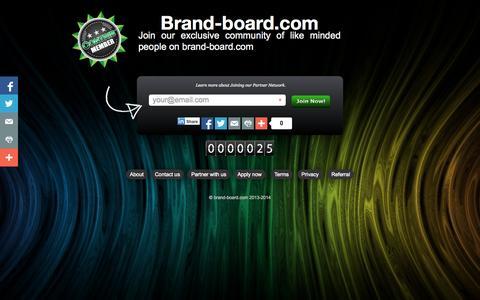 Screenshot of Home Page brand-board.com - Brand-board.com - captured Jan. 21, 2015