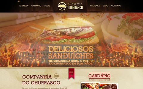 Screenshot of Home Page companhiadochurrasco.com.br - Companhia do ChurrascoCompanhia do Churrasco | O melhor do churrasco! - captured Sept. 10, 2015