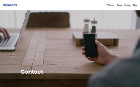 Screenshot of Contact Page wordpress.com - Contact – Brynbank - captured Oct. 11, 2017