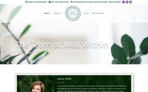 Screenshot of Team Page bewellwithin.com - Team - Well Within - Massage & Acupuncture in Newton, Ma - captured Nov. 18, 2018