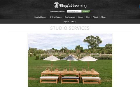 Screenshot of Services Page playfullearning.net - Studio Services - Playful Learning - captured March 5, 2017