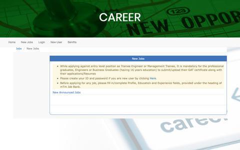 Screenshot of Jobs Page masoodtextile.com - Masood Textile Mills - Jobbank - captured Dec. 20, 2018