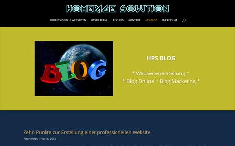 Screenshot of Blog homepage-solution.com - HPS BLOG – Homepage Solution - captured Feb. 7, 2016