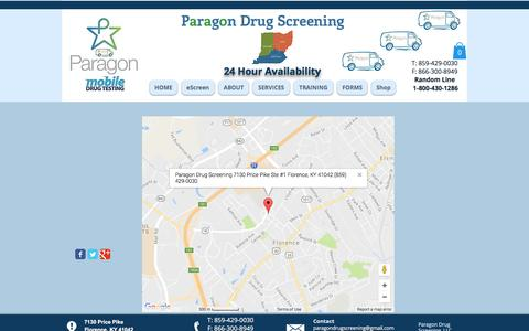 Screenshot of Maps & Directions Page paragondrugscreening.com - Paragon Drug Screening mobile drug testing screening Florence KY | Map - captured May 14, 2017