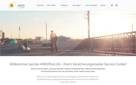 Screenshot of Home Page amex-online.de - Startseite - captured May 7, 2018