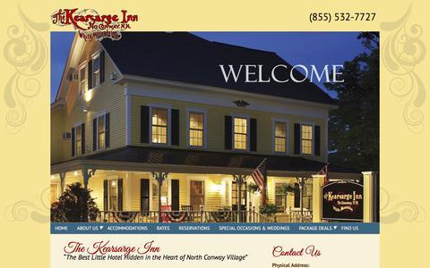 Screenshot of Home Page kearsargeinn.com - North Conway, NH Lodging - Kearsarge Inn - Official Site - captured July 3, 2018