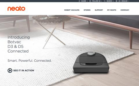 Screenshot of Home Page neatorobotics.com - Neato Robotics | Smartest, Most Powerful, Best Robot Vacuum - captured Sept. 3, 2016