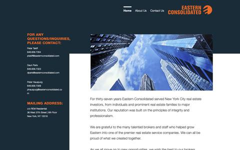 Screenshot of Home Page easternconsolidated.com - Home |  Eastern Consolidated - captured Nov. 4, 2018