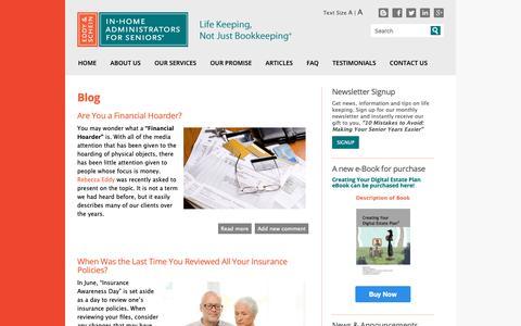 Screenshot of Blog eddyandschein.com - Blog   Eddy & Schein   New York City Elder Care Finance Services Daily Money Management - captured Sept. 27, 2018