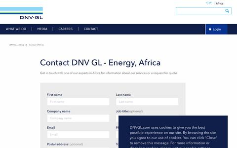Screenshot of Contact Page dnvgl.com - Contact DNV GL - Energy - DNV GL - captured Dec. 7, 2019