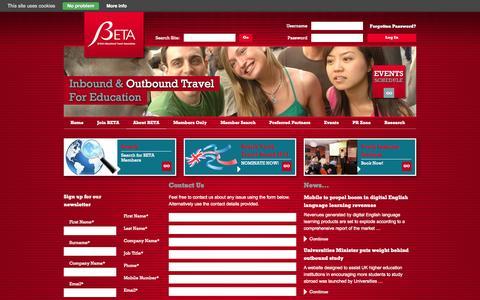 Screenshot of Contact Page betauk.com - Contact Us   BETA - captured Oct. 5, 2014