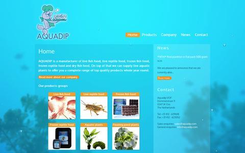 Screenshot of Home Page aquadip.com - AQUADIP - captured Sept. 30, 2014