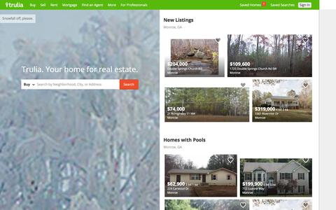 Screenshot of Home Page trulia.com - Trulia: Real Estate Listings, Homes For Sale, Housing Data - captured Dec. 25, 2015