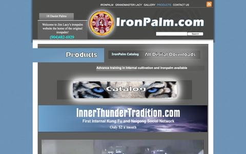 Screenshot of Products Page ironpalm.com - Products - captured June 13, 2016