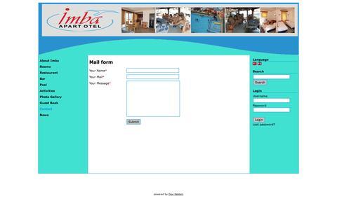 Screenshot of Contact Page imbaapart.com - Imba Apart - Mail form - captured May 25, 2016