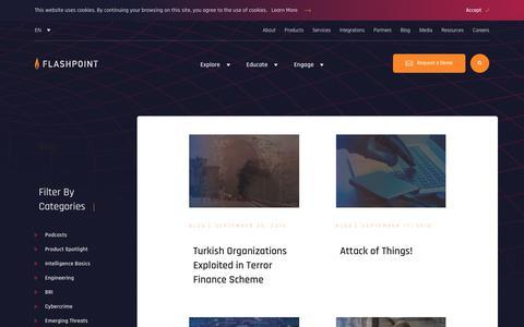 Screenshot of Blog flashpoint-intel.com - Flashpoint - Blog - captured Nov. 12, 2019