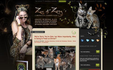 Screenshot of Blog zeezoey.com - The Chronicles of Zee & Zoey - captured Sept. 23, 2014