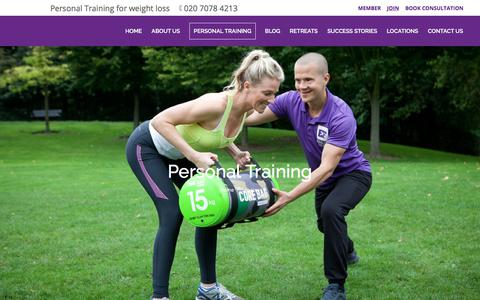 Screenshot of Services Page enlitefitness.com - Enlite Fitness | Personal Training Maida Vale - captured July 19, 2018