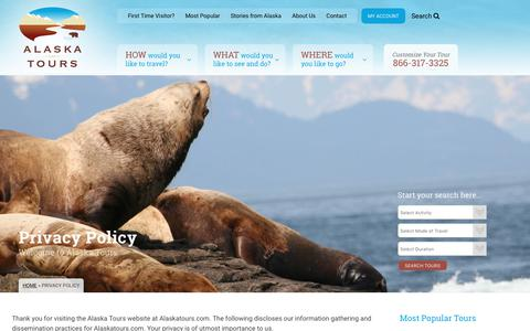 Screenshot of Privacy Page alaskatours.com - Privacy Policy - Alaska Tours - captured June 24, 2017