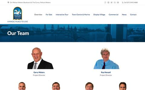 Screenshot of Team Page pelicanwaters.com - Our Team - Pelican Waters - captured July 20, 2017