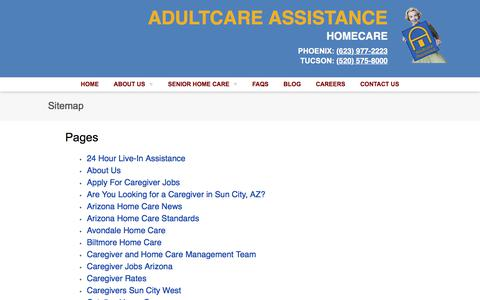 Screenshot of Site Map Page adultcareassistance.com - Sitemap   Adultcare Assistance Homecare - captured Oct. 7, 2017