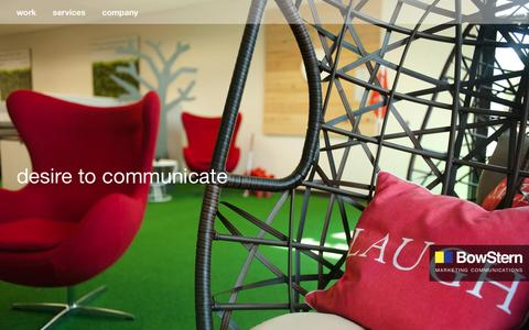 Screenshot of Home Page bowstern.com - BowStern Marketing Communications: Public Relations, Advertising Agency: Tallahassee, Jacksonville, Savannah - captured Jan. 21, 2016