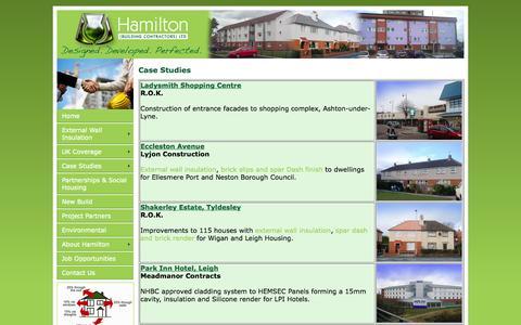 Screenshot of Case Studies Page hamiltonfirst.co.uk - External wall insulation - Case studies - captured Oct. 1, 2014