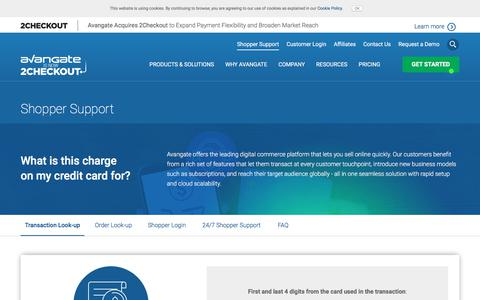 Screenshot of Support Page avangate.com - Customer support related to the order, payment or software delivery | Avangate - captured July 6, 2017