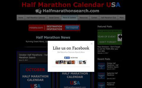 Screenshot of Press Page halfmarathonsearch.com - Half Marathon Running News, Discounts, Updates and Shout Outs - captured July 13, 2017