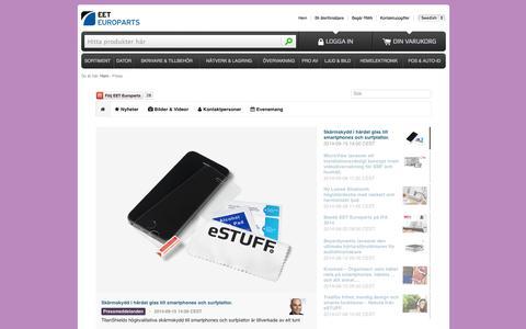 Screenshot of Press Page eetgroup.com captured Sept. 18, 2014
