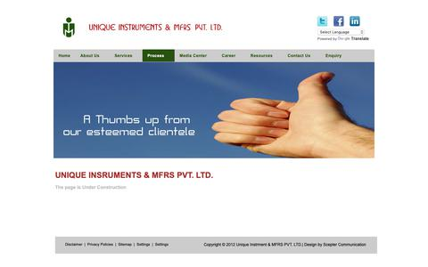 Screenshot of Testimonials Page unique-instruments.com - Unique Instrment & MFRS PVT. LTD. - captured Oct. 1, 2018