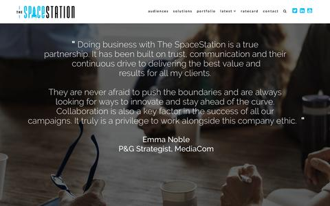 Screenshot of Testimonials Page thespacestation.co.za - Testimonials and brands we work with - captured Sept. 21, 2018