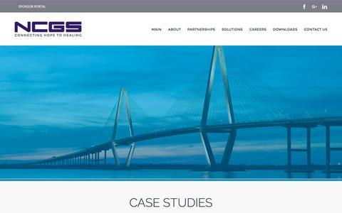 Screenshot of Case Studies Page ncgs.com - Case Studies – NCGS Inc. - captured Sept. 26, 2016