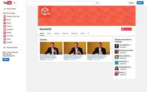 Screenshot of YouTube Page youtube.com - QuantixHC  - YouTube - captured Oct. 27, 2014