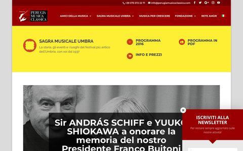 Screenshot of Blog perugiamusicaclassica.com - BLOG - Perugia Musica Classica - captured March 11, 2018