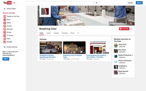 Screenshot of YouTube Page youtube.com - Breathing Color  - YouTube - captured Oct. 23, 2014